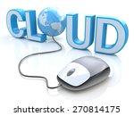 modern grey computer mouse... | Shutterstock . vector #270814175