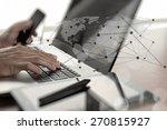 close up of business man hand... | Shutterstock . vector #270815927