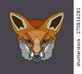 wild fox  consisting of... | Shutterstock .eps vector #270816281