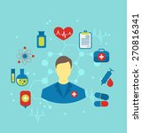 illustration doctor with flat... | Shutterstock . vector #270816341