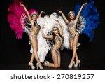 three beautiful women in... | Shutterstock . vector #270819257