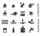 water icon set | Shutterstock .eps vector #270825299