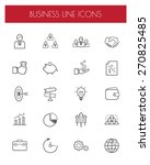 business thin line icon set... | Shutterstock .eps vector #270825485