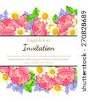 english rose. romantic... | Shutterstock .eps vector #270828689