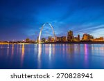 st. louis downtown at twilight. | Shutterstock . vector #270828941