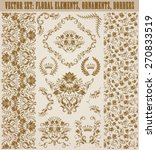 set of vector damask ornaments. ... | Shutterstock .eps vector #270833519
