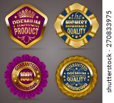 set of luxury gold badges with... | Shutterstock .eps vector #270833975