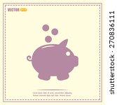 vector illustration of piggy... | Shutterstock .eps vector #270836111