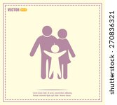 happy family icon in simple... | Shutterstock .eps vector #270836321