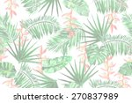 light floral pattern on a white ... | Shutterstock . vector #270837989