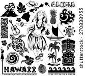 vector vintage set of hawaiian... | Shutterstock .eps vector #270838955