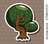 tree  cartoon stickers icon | Shutterstock . vector #270841919
