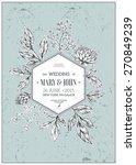classic floral vintage wedding...   Shutterstock .eps vector #270849239