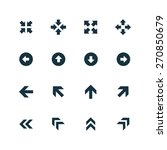 set of arrows icons on white...