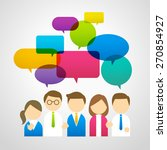 people icons with speech bubbles | Shutterstock .eps vector #270854927