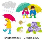 rainy day children clip art set   Shutterstock .eps vector #270861227