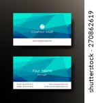 set of horizontal blue elegant... | Shutterstock .eps vector #270862619