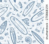 light blue doodle surfing... | Shutterstock .eps vector #270868154