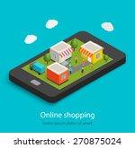isometric online mobile... | Shutterstock .eps vector #270875024