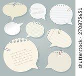 vector paper speech bubbles set ... | Shutterstock .eps vector #270875651