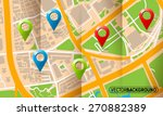 brochure with folds city map... | Shutterstock .eps vector #270882389