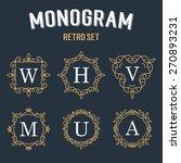 set of elegant monogram design. ... | Shutterstock .eps vector #270893231