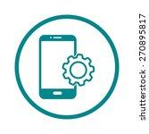 smart phone services icon.