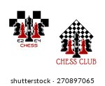 chess club sport emblems or... | Shutterstock .eps vector #270897065