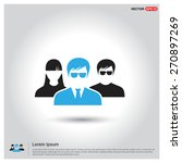 business user icon. users group ... | Shutterstock .eps vector #270897269