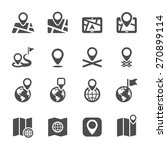 navigation icon set  vector... | Shutterstock .eps vector #270899114