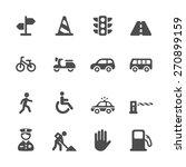 traffic icon set  vector eps10.   Shutterstock .eps vector #270899159