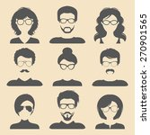 vector set of different male... | Shutterstock .eps vector #270901565
