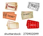 set of vector  tickets  vector  ... | Shutterstock .eps vector #270902099