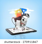 on line store. large home... | Shutterstock . vector #270911867