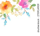 invitation card for wedding... | Shutterstock .eps vector #270914909