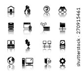 internet and network icon set | Shutterstock .eps vector #270915461