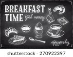 vector hand drawn breakfast and ... | Shutterstock .eps vector #270922397