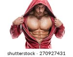strong athletic man fitness... | Shutterstock . vector #270927431