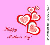happy mother day  i love you.... | Shutterstock .eps vector #270927614