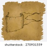 a worn parchment with a design... | Shutterstock .eps vector #270931559