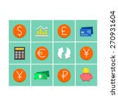 world's currency icons   flat... | Shutterstock .eps vector #270931604