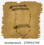 a worn parchment with a design... | Shutterstock .eps vector #270931745