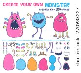 monster creation kit. create... | Shutterstock .eps vector #270933227