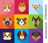 dogs flat design | Shutterstock .eps vector #270934421