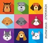 dogs  flat design | Shutterstock .eps vector #270934424