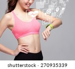 health sport woman wearing... | Shutterstock . vector #270935339