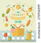 vector family picnic glade... | Shutterstock .eps vector #270936599