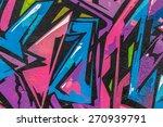 beautiful street art graffiti.... | Shutterstock . vector #270939791