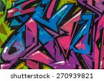 beautiful street art graffiti.... | Shutterstock . vector #270939821