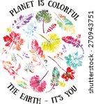 earth day poster. illustration... | Shutterstock .eps vector #270943751